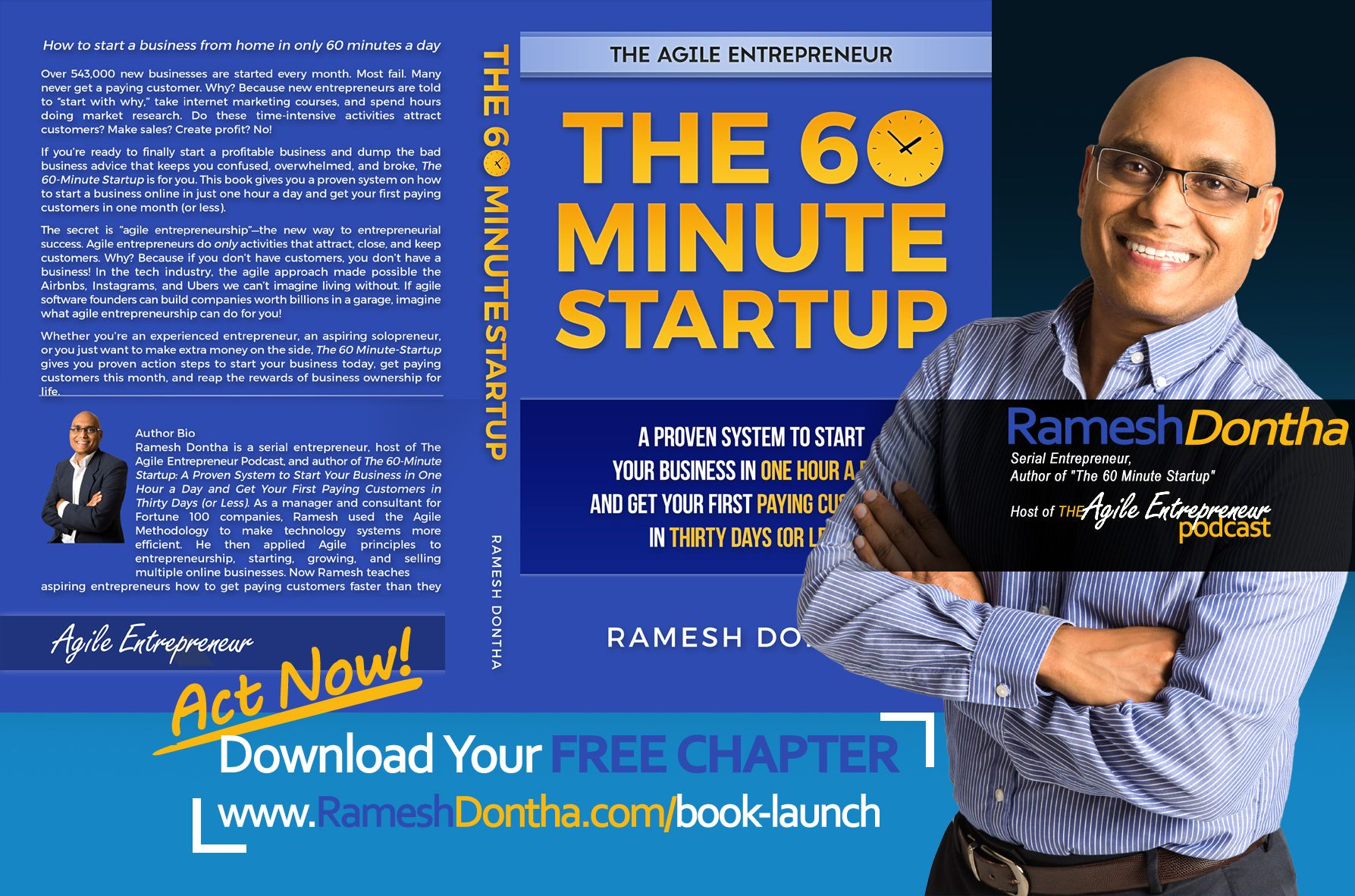 Entrepreneur Author Ramesh Dontha - The 60 Minute