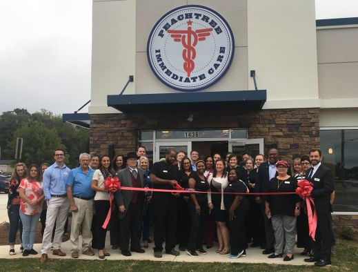 Peachtree Immediate Care of Griffin's ribbon cutting ceremony.
