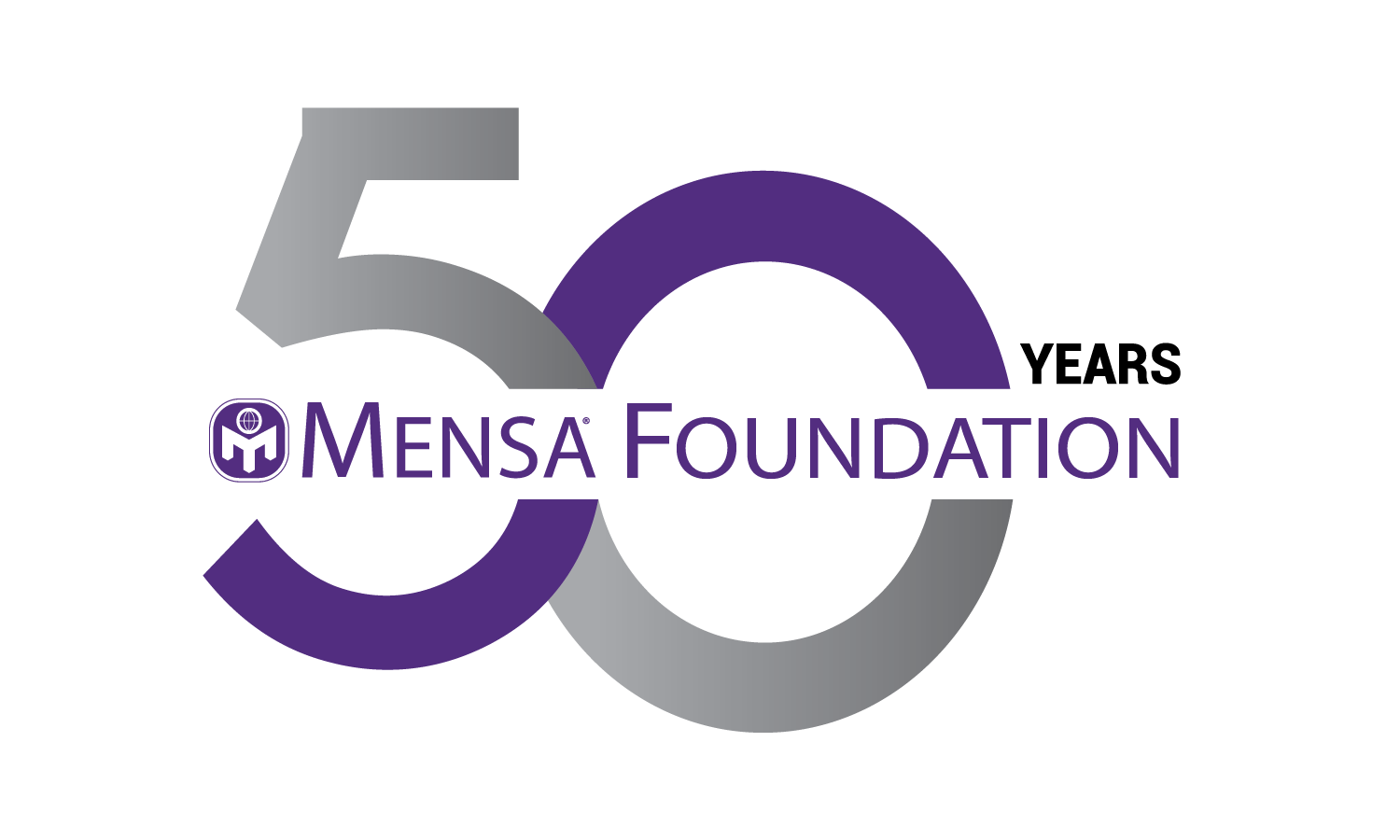 The Mensa Foundation's 50th anniversary logo.